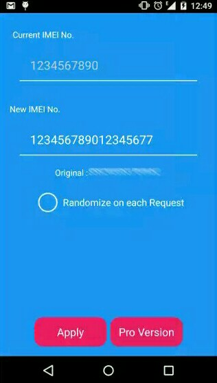 Apply new IMEI Number